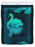 Night Swan L Duvet Cover