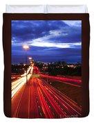 Night Traffic Duvet Cover by Elena Elisseeva