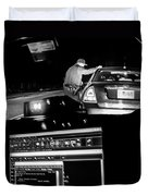 Night Traffic Stop Duvet Cover by Bob Orsillo