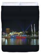 Nightlife At Clarke Quay Singapore Duvet Cover