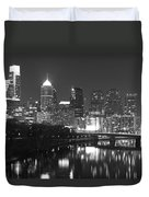 Nighttime In Philadelphia Duvet Cover