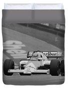 Niki Lauda. 1984 British Grand Prix Duvet Cover