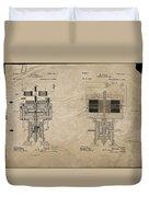 Nikola Tesla's Electrical Generator Patent 1894 Duvet Cover