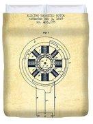 Nikola Tesla Patent Drawing From 1889 - Vintage Duvet Cover