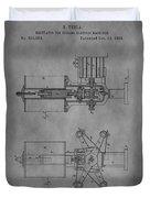 Nikola Tesla's Patent Duvet Cover