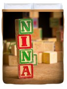 Nina - Alphabet Blocks Duvet Cover