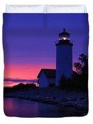 Nine Mile Point Light - Fm000022a Duvet Cover