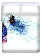 Ninja Stealth Disappears Into Bubble Bath Duvet Cover