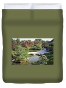 Ninna-ji Temple Garden And Pond - Kyoto Japan Duvet Cover