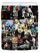 Nirvana Collage Duvet Cover by Taylan Apukovska