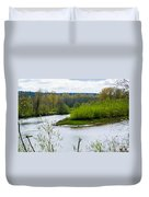 Nisqually River From The Nisqually National Wildlife Refuge Duvet Cover