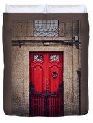 No. 24 - The Red Door Duvet Cover