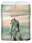No Day At The Beach Duvet Cover