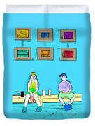 No Frisbee In The Gallery Duvet Cover