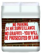 No Graffiti Duvet Cover