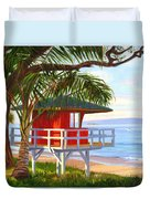 No Guard On Duty - Kamaole Beach Duvet Cover