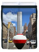 No Limits Exhibit Metlife Building Midtown Duvet Cover