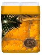 Sunshine Yellow Silk Decor With Stars Duvet Cover