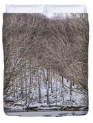 Snowy Picnic Ground In Winter Duvet Cover
