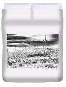 No Place Like Home 1 Bw Palm Springs Duvet Cover