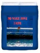 No Wake Zone Duvet Cover
