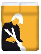 No004 My Nirvana Minimal Music Poster Duvet Cover by Chungkong Art