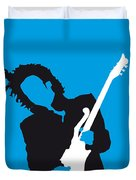 No009 My Prince Minimal Music Poster Duvet Cover