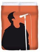 No023 My Oasis Minimal Music Poster Duvet Cover by Chungkong Art