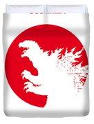 No029-2 My Godzilla 1954 Minimal Movie Poster.jpg Duvet Cover