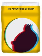 No096 My Tintin-3d Minimal Movie Poster Duvet Cover