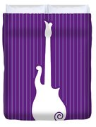 No124 My Purple Rain Minimal Movie Poster Duvet Cover by Chungkong Art