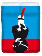 No136 My Soldier Blue Minimal Movie Poster Duvet Cover