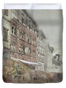 No.1590 Palazzo Agostini, Pisa, 1845 Duvet Cover