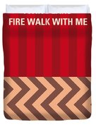 No169 My Fire Walk With Me Minimal Movie Poster Duvet Cover