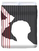 No185 My Psycho Minimal Movie Poster Duvet Cover