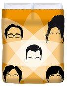 No196 My The Big Bang Theory Minimal Poster Duvet Cover by Chungkong Art