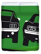 No214 My Bullitt Minimal Movie Poster Duvet Cover