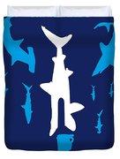 No216 My Sharknado Minimal Movie Poster Duvet Cover