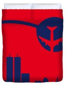 No219 My Escape From New York Minimal Movie Poster Duvet Cover