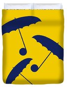 No254 My Singin In The Rain Minimal Movie Poster Duvet Cover