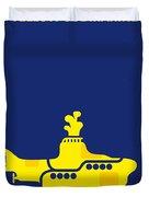 No257 My Yellow Submarine Minimal Movie Poster Duvet Cover