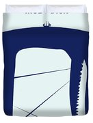 No267 My Moby Dick Minimal Movie Poster Duvet Cover