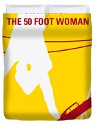 No276 My Attack Of The 50 Foot Woman Minimal Movie Poster Duvet Cover