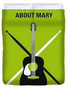 No286 My There's Something About Mary Minimal Movie Poster Duvet Cover