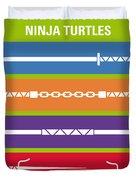 No346 My Teenage Mutant Ninja Turtles Minimal Movie Poster Duvet Cover
