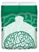 No390 My The Man With Two Brains Minimal Movie Poster Duvet Cover