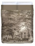 No.3933.f8 View Of The Stables On Lord Duvet Cover