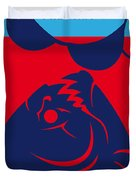 No433 My Piranha Minimal Movie Poster Duvet Cover