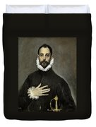 Nobleman With His Hand On His Chest Duvet Cover