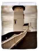 Nobska Lighthouse Duvet Cover